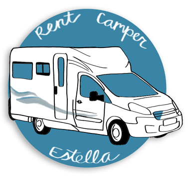 Logotipo Rent Camper Estella